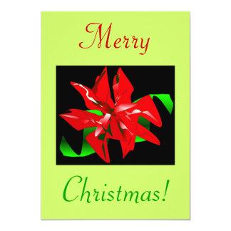 クリスマス|花|IV 12.7 X 17.8 インビテーションカード