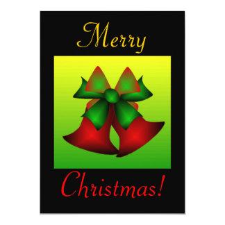 クリスマス|鐘 12.7 X 17.8 インビテーションカード