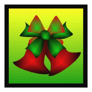 クリスマス|鐘 13.3 スクエアインビテーションカード
