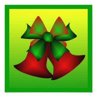 クリスマス|鐘|I 13.3 スクエアインビテーションカード