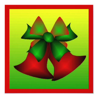 クリスマス|鐘|II 13.3 スクエアインビテーションカード
