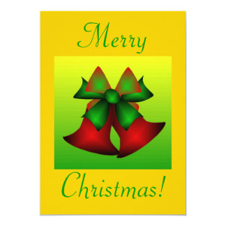 クリスマス|鐘|III 12.7 X 17.8 インビテーションカード