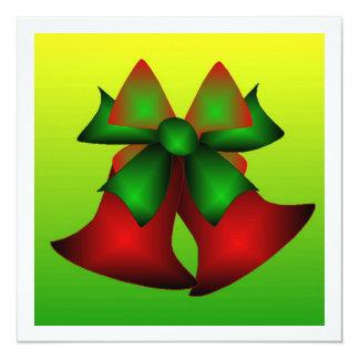 クリスマス|鐘|III 13.3 スクエアインビテーションカード