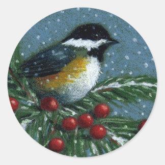 クリスマス: 《鳥》アメリカゴガラ: ステッカー