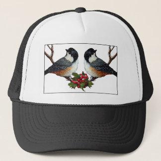 クリスマス: 鳥: 柔らかい《鳥》アメリカゴガラのカップル キャップ