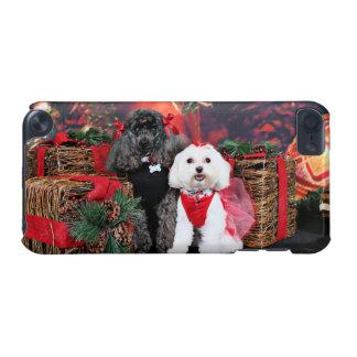 クリスマス- Amicheのプードル- Tinkerbellのマルチーズ iPod Touch 5G ケース