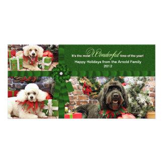 クリスマス- GoldenDoodleのプードルCockapoo -アーノルド カード