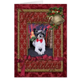クリスマス- Tucker -ヨークシャーテリアX カード