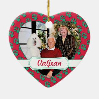 クリスマス- Valjean -プードル セラミックオーナメント