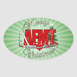 クリスマスAEMTの高度の緊急の医学の技術 楕円形シール