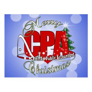 クリスマスCPAの米国公認会計士 ポストカード