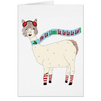 クリスマスFaのLaのラマのLaのLaのLaのLaのLaカード カード