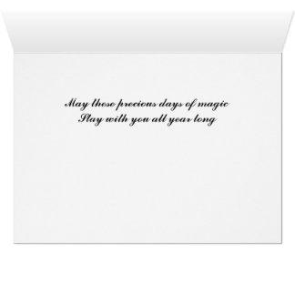 クリスマスMagc -白い星明かりのクリスマスツリー カード