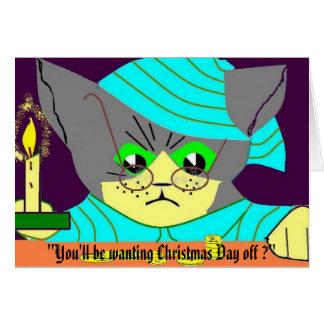 """""""クリスマスoが…ほしいと思います カード"""