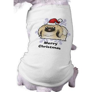 クリスマスPekingese (切られるショー) ペット服