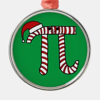 クリスマスPiの漫画の数学のギーク メタルオーナメント
