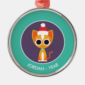 クリスマスPurrl猫 メタルオーナメント