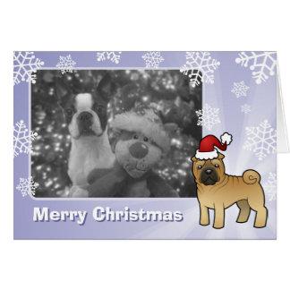 クリスマスShar Pei カード