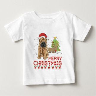 クリスマスShar Pei ベビーTシャツ