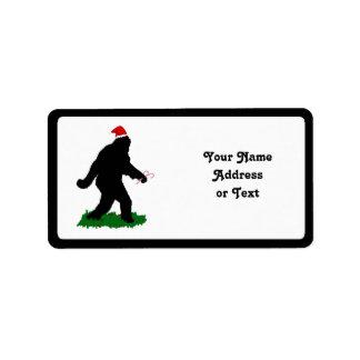 クリスマスSquatchin ラベル