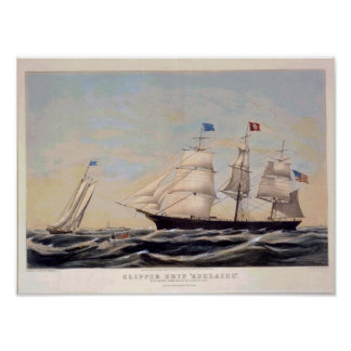 クリッパー船のアデレードのヴィンテージポスター再生 ポスター