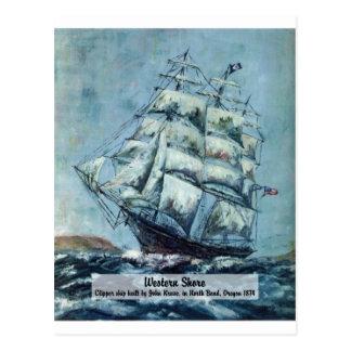 クリッパー船の西部の海岸 ポストカード