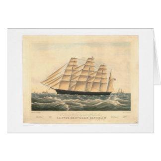 """クリッパー船""""素晴らしい共和国"""" (0398A) カード"""