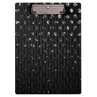 クリップボードの黒いSparkleyの宝石 クリップボード
