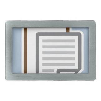 クリップボードアイコンベクトル 長方形ベルトバックル