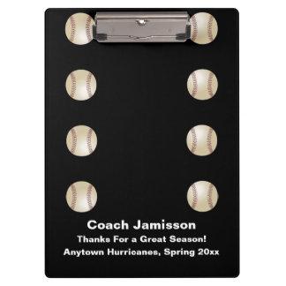 クリップボード、黒、野球のコーチ クリップボード