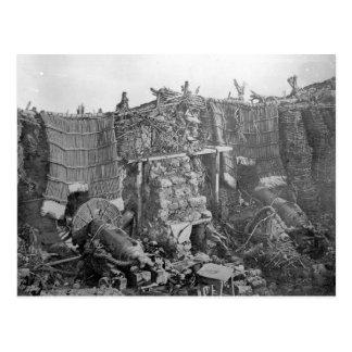 クリミア戦争、c.1855の間の2砲台 ポストカード