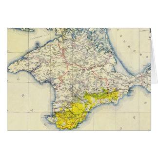 クリミア(1922年)のヴィンテージの地図 カード