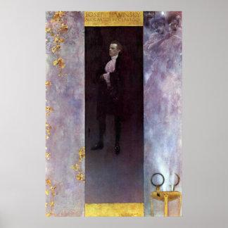 クリムトによるカーロスとしてヨセフLewinsky Hofburg俳優 ポスター