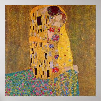 クリムトによるキス ポスター