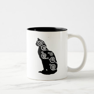 クリムトのスタイル猫 ツートーンマグカップ