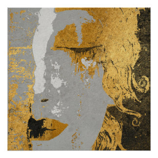 クリムトの芸術の様式化ポスター紙(無光沢) ポスター