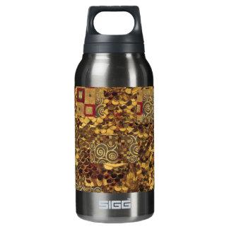 クリムトの金ゴールドのアールヌーボーのパターン(の模様が)あるな自由のボトル 断熱ウォーターボトル