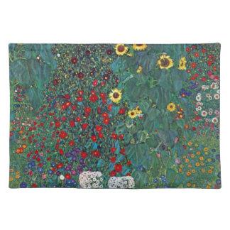 クリムト、ヴィンテージによるFarmergarden wのヒマワリは開花します ランチョンマット
