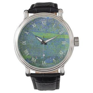 クリムト、ヴィンテージアールヌーボーによるAtterseeのUnterach 腕時計