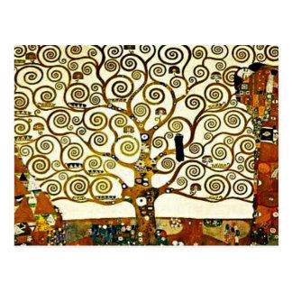 クリムト-生命の樹、stocletのフリーズ ポストカード