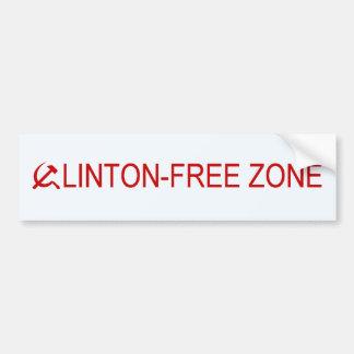 クリントンなしの地帯 バンパーステッカー