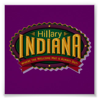 クリントンインディアナポスター ポスター