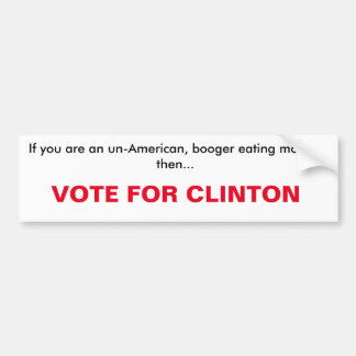クリントンバンパーステッカーのための投票 バンパーステッカー