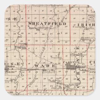 クリントン郡の地図 スクエアシール