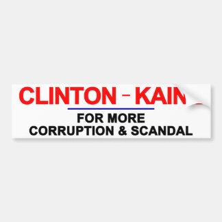 クリントンKaine堕落およびスキャンダル バンパーステッカー