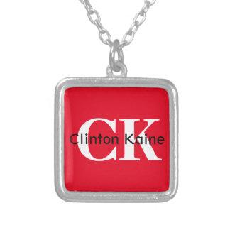 クリントンKaine - CK 2016年 シルバープレートネックレス
