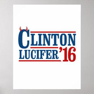 クリントンLucifer 2016年の- -アンチヒラリー- ポスター