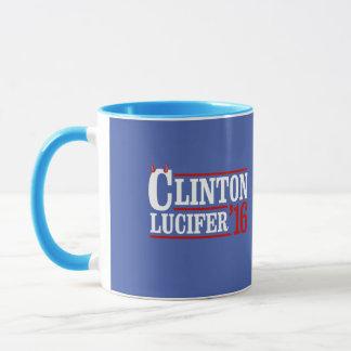 クリントンLucifer 2016年 -- -アンチヒラリー- マグカップ
