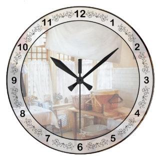 クリーニング-洗濯室 ラージ壁時計