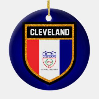 クリーブランドの旗 セラミックオーナメント